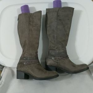 SO Grey Knee Boots - size 9